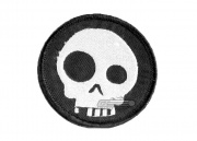 UK Arms Skull Circle Velcro Patch Velcro (Black)