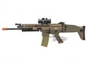 VFC Full Metal FN Herstal SCAR-L MK16 STD AEG Airsoft Gun (TAN) w/ NC Star 1x30 Red Dot Sight Package