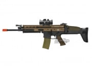 VFC Full Metal FN Herstal SCAR-L MK16 STD AEG Airsoft Gun (2-tone/Black Lower) w/ NC Star 1x30 Red Dot Sight Package