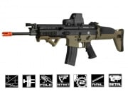 FN Herstal SCAR-L MK16 STD Carbine AEG Airsoft Gun by VFC (Tan/Black)