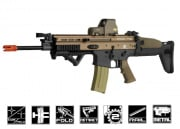 FN Herstal SCAR-L MK16 STD Carbine AEG Airsoft Gun by VFC (Black/Tan)
