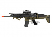 VFC Full Metal FN Herstal SCAR-L MK16 STD AEG Airsoft Gun (2-tone/Tan Lower) w/ NC Star 1x30 Red Dot Sight Package