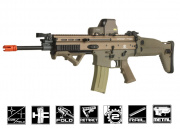 FN Herstal SCAR-L MK16 STD Carbine AEG Airsoft Gun by VFC ( Tan )