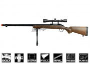 Well Full Metal/Fake Wood MB07 Bolt Action Sniper Rifle Airsoft Gun (Scope Package Deal)