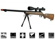 Well Full Metal / Fake Wood MB07 Bolt Action Sniper Rifle Airsoft Gun