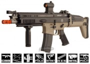 WE Full Metal FN Herstal SCAR Light GBB Rifle Airsoft Gun ( Open Bolt / 2-tone / Tan Lower Receiver )