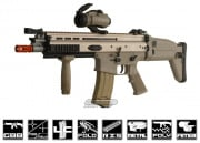 WE Open Bolt FN Herstal SCAR-L MK16 Carbine GBB Airsoft Gun (Tan)