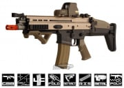 WE Full Metal FN Herstal SCAR Light GBB Rifle Airsoft Gun ( Open Bolt / 2-tone / Black Lower Receiver )