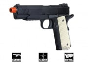 WE 5.1 1911 Night Warrior Threaded Barrel Pistol GBB Airsoft Gun Two Magazine Package (Black)