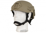 X-Factor MICH 2001 Replica Helmet w/ NVG Mount & Side Rail (Tan)