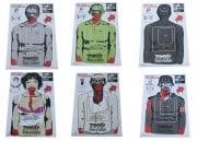 "Zombie Industries Indoor Paper Target 17.5x23.5"" - Assorted 25 Pack"