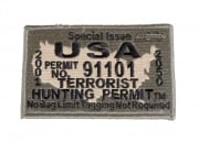 ZI USA Terrorist Hunting Permit Patch