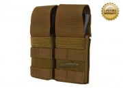 Pantac USA 1000D Cordura Molle Double M4/M16 Magazine Pouch w/ Hard Inserts (Coyote)