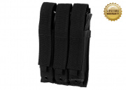Pantac USA 1000D Cordura Molle MK5/H&K MP5 Triple Magazine Pouch (Black)