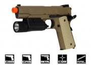 WE Full Metal 1911 Desert Warrior Airsoft Gun (Railed Version)