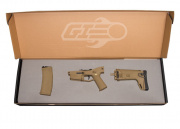 *Open Box Buy* WE MSK Polymer Lower With Stock and Magazine For Gas Blow Back Airsoft Gun (Tan)