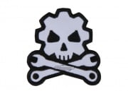 MM Death Mechanic Velcro Patch (Black/Wht)