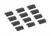 Bravo Airsoft Rail Covers Type 1 in Black - 12pcs