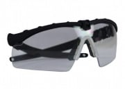 Bravo Airsoft Tactical Eye Protection with Black Frame and Clear Lens
