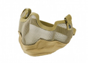 Bravo Airsoft Tactical Gear V2 Strike Metal Mesh Face Mask (Tan)