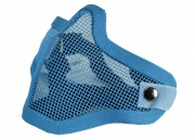 Bravo Airsoft Tactical Gear: V1 Strike Steel Half Face Mask (Skull/Blue)