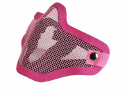 Bravo Airsoft Tactical Gear V1 Strike Steel Half Face Mask (Pink)