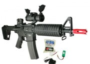 (Discontinued) G&G Full Metal GR-16 CQB H Airsoft Gun (Battery/BBs/Charger Package/M4-CQBH)