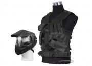 NcSTAR Crossdraw Tactical Vest w/ Annex MI-3 Face Mask (Black)