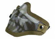 Bravo Airsoft Tactical Gear: V1 Strike Steel Half Face Mask (Skull/Tan)