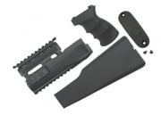 King Arms AK47 Railed Handguard/Grip/Stock (BLK)
