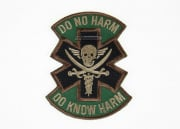 MM Do No Harm Skull Velcro Patch ( OD )