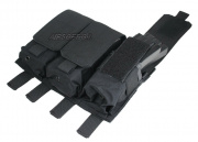 (Discontinued) HSS 5.56 Magazine Triple Molle Pouch (Black)