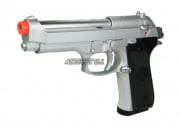( Discontinued ) KJW Full Metal M9 Silver Airsoft Gun ( Latest Edition )