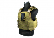 J-Tech Aegis-II Plate Carrier Tactical Vest (COY Brown/Medium)