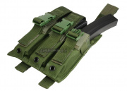 (Discontinued) HSS 9mm SMG Triple Molle Magazine Pouch (OD)