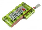 Sanyo 9.6v 1700mAh NiCd Custom ICS AN/PEQ Box Battery