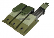 (Discontinued) HSS Pistol Magazine Triple Molle Pouch (OD)