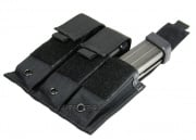 (Discontinued) HSS Pistol Magazine Triple Molle Pouch (Black)