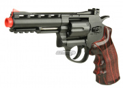 "WG Full Metal/Fake Wood 4"" Revolver CO2 Airsoft Gun (Black)"