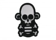 Mil-Spec Monkey Stumpy Monkey Skull & Cross Bone Velcro Patch (White)