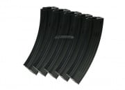 King Arms M4/M16 100 rd. AEG Mid Capacity Magazine - 5 Pack (Black)