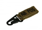 Condor Outdoor AB Positive Blood Type Key Chain ( TAN )