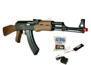G&G RK 47 AK Rifle AEG Airsoft Gun Battery & Charger Package (Wood)