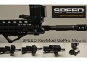 Speed Airsoft KeyMod GoPro Rail Mount Kit