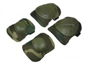 Tactical Elbow and Knee Pads Set (Woodland)