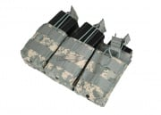 Condor / OE TECH MOLLE Triple Open Top Stacker M4 / M16 Pouch ( ACU )