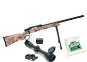 (Discontinued) UTG Full Metal Gen. 5 M324S Pro Bolt Action Sniper Rifle Airsoft Gun (Desert/Scope/BB's Package)