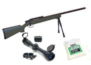 UTG Gen 5 M324S M700 Bolt Action Spring Sniper Rifle Airsoft Gun Scope Package (OD Green)