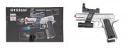 UK Arms G153SAF M1911 Spring Pistol Airsoft Gun w/ Flashlight Sight & Laser (Silver)