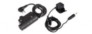 OPSMEN Tactical Earmor PTT Adapter 2 Pin for Motorola (Black)